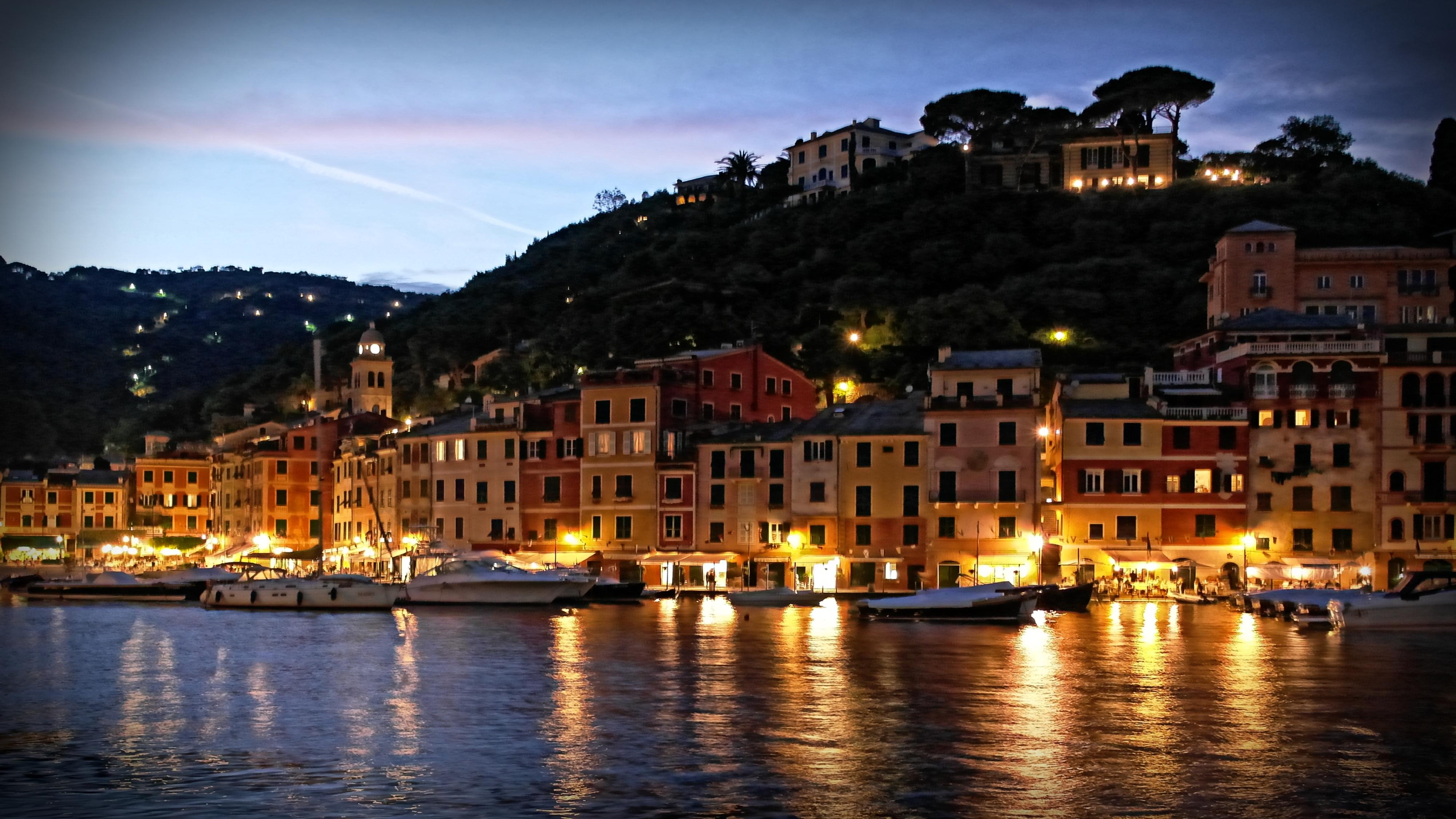 Blog Portofino by night harbour